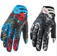 F Ghost Head Перчатки Гонки Мотоцикл Беговые Перчатки Велосипеда Спортивное защитное оборудование