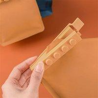 Blocs Nourriture Snack Scellant Sac à sceller Clips Clips Scellant Porte-Cuisine Neuf Cuisine Stockage 4pcs / Lot Outils en plastique Zyy484 77 J2