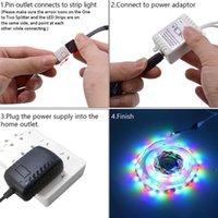высокое качество 12V 10M Dual-диска SMD шариков 2835 Лампа 300 Lamp-RGB-IR44-Non-водонепроницаемый и Non-клей 24-Key Light Strip Set 40W белый свет