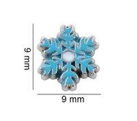 20 шт. / Лот Blue Snowflake Floating Locket Подвески Подходит для памяти Магнитный медальон Ожерелье изготовление модных украшений