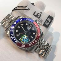 U1 di lusso di lusso di alta qualità automatico 5833 movimento gioiello GMT II Geppotto in ceramica con zaffiro quadrante in vetro orologio uomo orologio 316 stainless banda