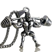 المختنقون دمبل رجل قوي قلادة قلادة الفولاذ المقاوم للصدأ سلسلة رفع الاثقال سحر الرجال الرياضة الهيب هوب المجوهرات 2021