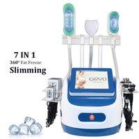 7 в 1 1 Cryo Lipolisis ультразвуковая кавитация радиочастота для похудения анти целлюлит обработки COOL COOLE FOREZE FAT LIPO LASER LASER Устройство потери веса