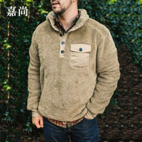 New Casual Plain Decorative Button Task Maglione in autunno e inverno del 2019