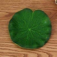 1pcs 10-60 cm 실제 터치 인공 연꽃 잎 거품 꽃 웨딩 가든에 대 한 수련 플로팅 플랜트 EVA Decoration1