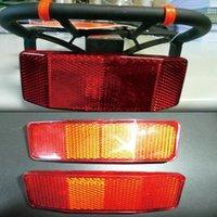 Fahrradbeleuchtung Fahrrad Rack Schwanz Sicherheit Achtung Warnung Reflektor Disc Panier hinten reflektierende MTB Outdoor-Zubehör # T1P