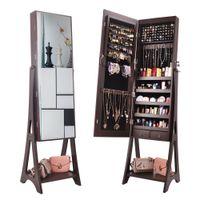 Waco Jewelry Armet Armário para mulheres, Freestanding Unidade de organizador de armazenamento de armazenamento com 2 gavetas Armazenamento cosmético, Comprimento total