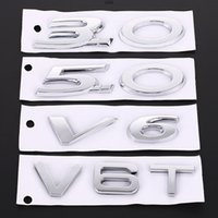 ملصق السيارة 3.0 5.0 V6 V8 V6T V8T شعار ملصقات الخلفية شعار الشارات الشارات الذيل جذع ملصق ل AMG BMW Mazda شيفروليه