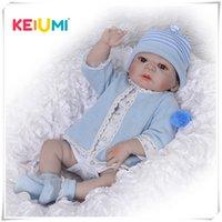 Keiumi Body Bambole rinasce da 23 pollici 57 cm realistico handmade bambole bambino ragazzo moda bambini giocattolo giocattolo impermeabile boneca modello regalo di compleanno LJ201031