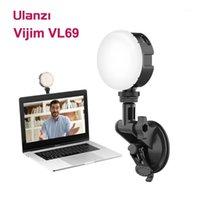 Ulanzi Vijim VL69 LED Video Işık 2500-6500 K Yuvarlak Yumuşak Dolgu Işık Lambası Canlı Yayın Konferans Aydınlatma Kiti Live Vlog1