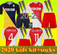 Kinder 2021 als Monaco Soccer-Trikots Keita balde Ben Yedder Gelson 2020 2021 Home Fabreags Golovin Football Shirt