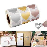 300 pz a forma di cuore Scratch Off adesivi Autoadesivi Etichetta Scratch per matrimonio Birthday Party Game Gifts Artigianato