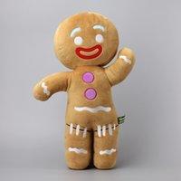 Büyük Boy 48 cm Shrek Gingerbread Adam Bigheadz Dolması Peluş Oyuncaklar Yumuşak Yastık Yastık Bebekler Çocuklar Hediye LJ201126