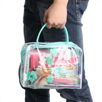 PVC Waterproof Cosmetic Bag Women Transparent Flower Printed...