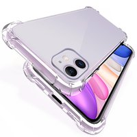 Transparent Shockproof Silicone Case For iPhone 11 12 Pro X ...
