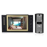 8 pouces LCD couleur visiophone Interphone caméra de vision nocturne Kit IR caméra de vision nocturne Videophones Accueil Sécurité