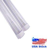 V 모양의 LED 튜브 빛 4ft 5ft 6ft 8 피트 LED 튜브 T8 72W 144W 양면 전구 가벼운 쿨러 도어 조명