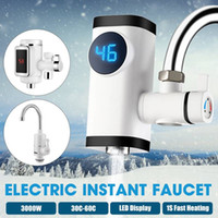 3000W Kitchen Faucet Instant Hot Water Digital LCD Display Electric Faucet Water Heater Electric Tankless Fast Heating Water Tap