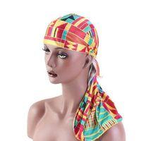 XEONGKVI أفريقيا مطبوعة مضاهاة الحرير ربط حريري Durag سكولي بيني الربيع الخريف العلامة التجارية العمامة قراصنة القبعة للنساء رجال