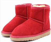Hohe qualität 5854 klassische frauen leder kurze schnee boots marke winter warme kurze stiefel baumwolle gepolsterte schuhe stiefel