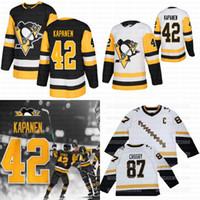 42 Kasperi Kapanen Pittsburgh Penguins 2021 Retro Retrô Quarto 4th Marleeau Sidney Crosby Jerseys Guentzel Malkin Bryan Ferrugem Letang McCann