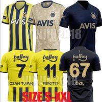 20 21 Fenerbahce Soccer Jerseys 2020 2021 Camisetas de fútbol Home Mesut Özil Ozan Tufan Perotti Samatta Camiseta Camisetas de fútbol Uniforme