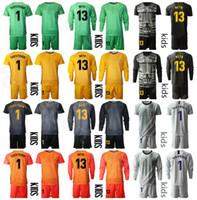 أطفال حارس مرمى كم طويل 1 مارك أندريه تير ستيجن شباب حارس مرمى GK Soccer Jersey مجموعة 13 Neto Football Shirt Kits Team BSLN