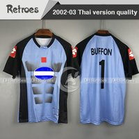2002 2003 Rétro Buffon Gardien de but Gaolie Soccer Jerseys 02 03 Chemises de football Camiseta Maillot Classic Football Shirts