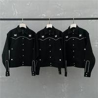 Nueva chaqueta Hombres Mujeres 1 de alta calidad de la vendimia del estilo británico bordado Coats