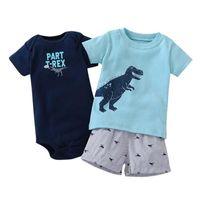 Times 'Любимая новая мода ребёнок одежда 100% хлопок летняя детская одежда набор футболку + детский боди + брюки шаржа напечатаны Y200803