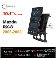 سيارة الصوت 10.1 بوصة 1280 * 720 SPALICE 1 DIN Android 10.0 راديو فورمازدا RX-8 2003 - 2008 GPS
