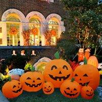 Искусственная тыква Хэллоуин праздник светильника поддельных симуляций тыква украшения для дома Хэллоуин реквизит DIY ремесла Y201006