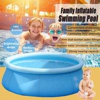 SGODDE 4-10ft Aufblasbares Schwimmbad Familiengarten Outdoor Indoor Party Kinder spielen kreisförmige Schwimmbad1