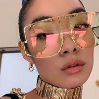 Mode Rihanna Sonnenbrille Übergroße Frauen2020 Männer Vintage Sonnenbrille Luxus Retro Square Herren Sonnenbrille