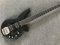 New Arrival 5 strings Matte Black Body Electric Bass Guitar ...
