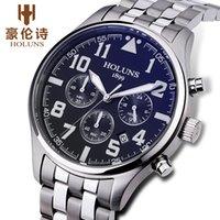 2020 Mens 시계 브랜드 럭셔리 남성 패션 쿼츠 시계 블루 다이얼 실버 스틸 시계 도구 Watchmakers Relogio Masculino / SS BRW