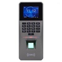 Parmak İzi Erişim Kontrolü Kitleri DC 12 V 2.4 inç TFT Ekran Şifre Kartı Kapı Alarmı Devam RFID Kilit 1