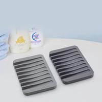 Supporto in silicone antiscivolo Supporto per sapone flessibile porta sapone piatto piatto vassoio SOAKBOX CONTAINER STOCCAGGIO Bagno Accessori da cucina VT1850