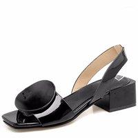 أحذية اللباس lism الصنادل النسائية أوروبا والولايات المتحدة الربيع الصيف جولة الديكور حجم كبير 40-43 كعب font1