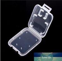Transparent Effacer standard Carte mémoire SDHC SD Support Case Boîte de rangement Boîte de rangement pour Carry carte SD TF