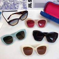 2021 New Womans gato olho óculos de sol mulher óculos de sol mulheres moda óculos de sol fishbone espelho perna design óculos 0808 com caixa