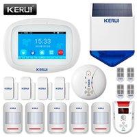 Sistemas de alarma Kerui K52 Sistema con Sirena Solar al aire libre PIR Detector de movimiento Seguridad Inalámbrico WiFi GSM 4.3 pulgadas Buglar