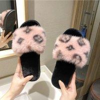 2020 Trend Women Schuhe Winter neue Frauen Hausschuhe Damen weichen Sohlen Anti-Rutsch-Haus-Plüsch-Hausschuhe im Freien Netter Pelzhausschuhe X1020