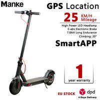 Stock Bluetooth APP intelligent de commande électrique pliant Scooter 8,5 pouces en alliage d'aluminium de pneus Ebike 2 roues vélo électrique Scooter