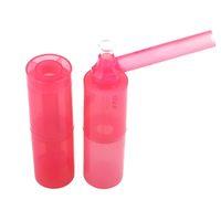 Taşınabilir Yeni Nargile Sigara Boru 124mm Ayrılabilir Silindirik Plastik Tütün Boru Yaratıcı Cam Yağ Burner Boru Su Bongs VT1979