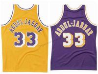 Billig benutzerdefinierte retro # 33 kareem abdul-jabbar college basketball jersey männer genäht jeder größe 2xs-3xl 4xl 5XL name oder nummer freies verschiffen