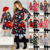 Família de Natal roupas combinando Suit Filha de Mãe Matching Vestidos Papai Noel saia do Natal Posters Pai-filho vestido Outfits E101901