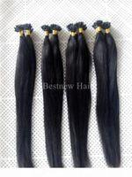 100 г 16 дюймов-26 дюймов 1 г с кератином U наконечника преподаваемые наращивания волос Extensions Индийская реми Человек прямые волосы для ногтей