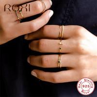 ROXI 925 Серебряное кольцо Открытие Золотой люкс Австрия Кристалл Кольца для женщин Подарочные Регулируемые округляет CZ Open Midi Toe Ring