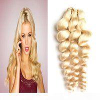 Свободная волна Девственные волосы 100 г блондинки человеческие волосы плетение 613 отбеливатель необработанные девственницы бразильские волосы свободные пучки волны 1шт двойной уток